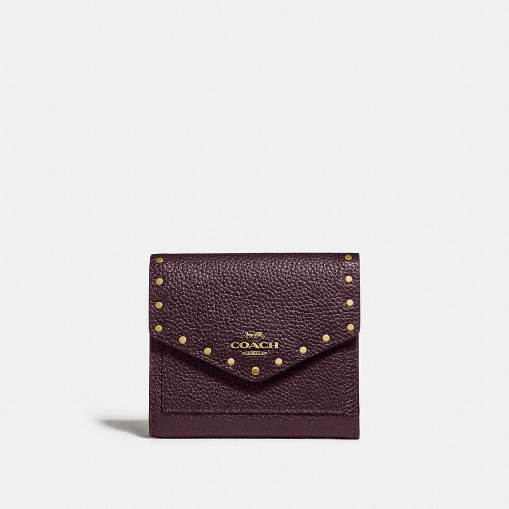 Coach Small Wallet With Rivets