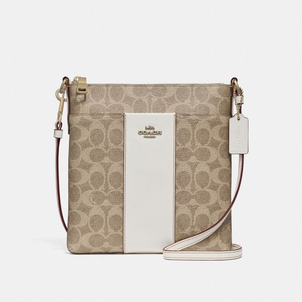 Coach Kitt Messenger Crossbody in Colorblock Signature Canvas