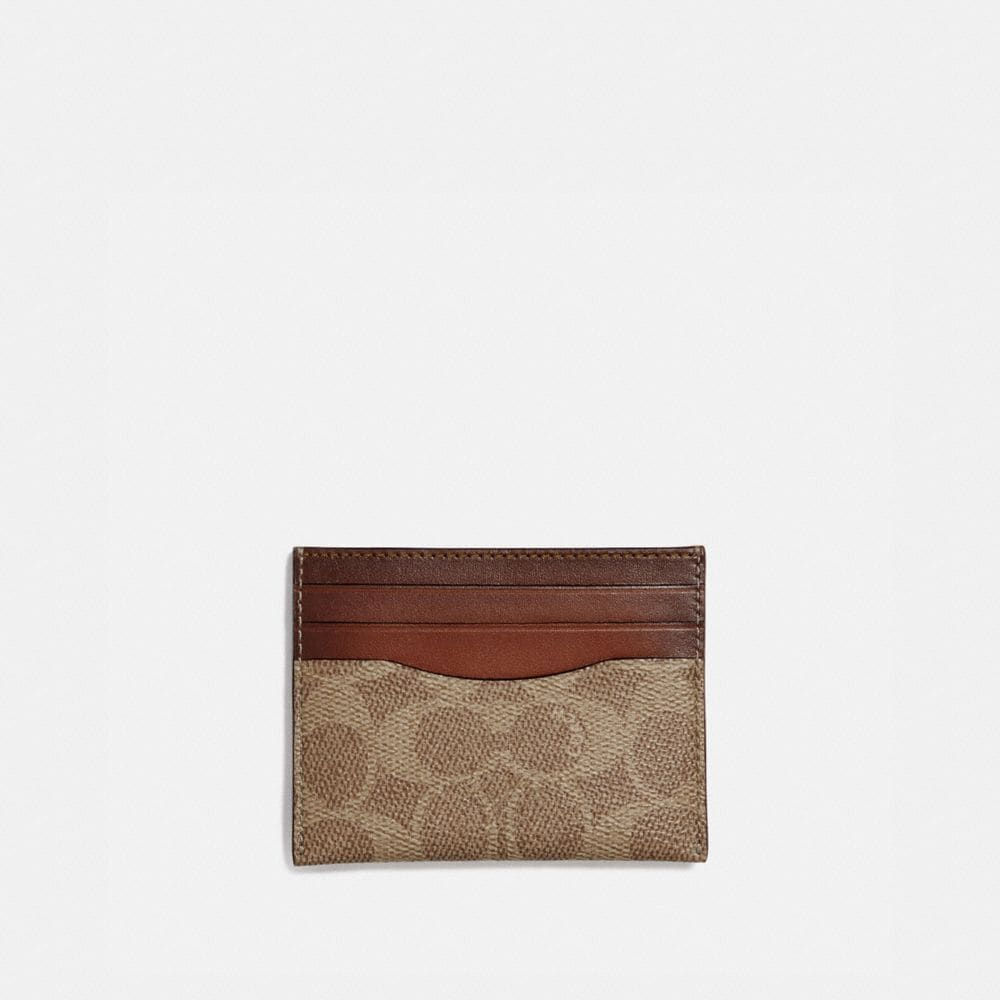 Coach Card Case in Colorblock Signature Canvas