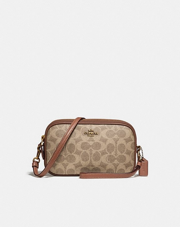 Coach SADIE CROSSBODY CLUTCH IN COLORBLOCK SIGNATURE CANVAS