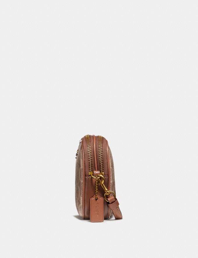 Coach Sadie Crossbody Clutch in Colorblock Signature Canvas Tan/Rust/Brass 30% off Select Full-Price Styles Alternate View 1
