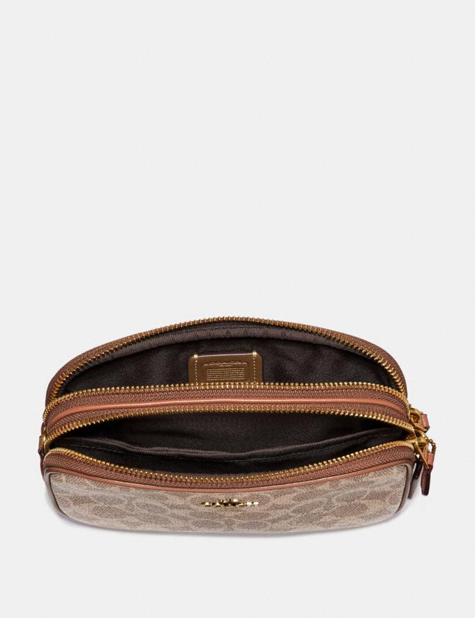 Coach Sadie Crossbody Clutch in Colorblock Signature Canvas Tan/Rust/Brass 30% off Select Full-Price Styles Alternate View 2