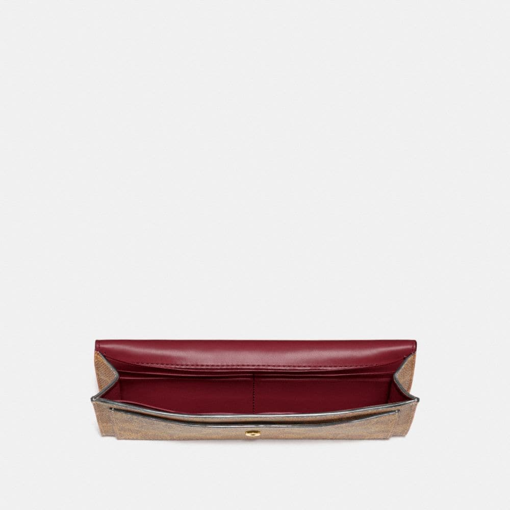 Coach Soft Wallet in Colorblock Signature Canvas Alternate View 1