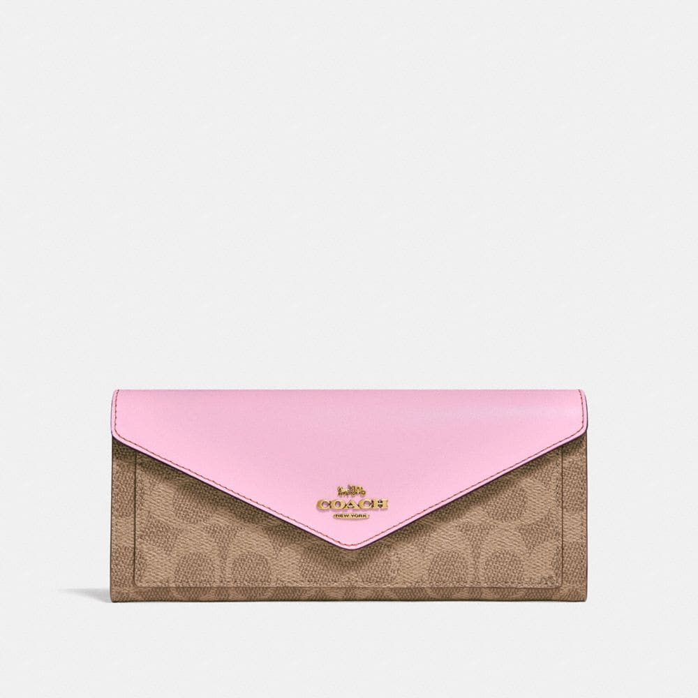 Coach Portefeuille Souple En Toile Exclusive Color Block