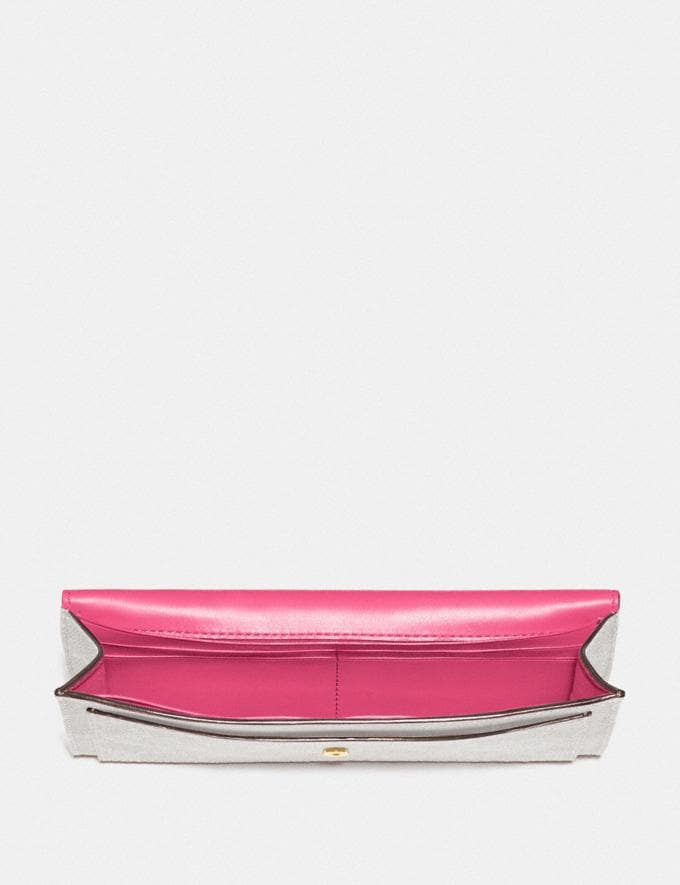 Coach Soft Wallet in Colorblock Signature Canvas B4/Chalk Confetti Pink New Women's New Arrivals Alternate View 1