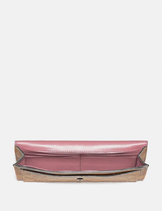 Coach Soft Wallet in Colorblock Signature Canvas Pewter/Tan True Pink Gifts For Her Bestsellers Alternate View 1