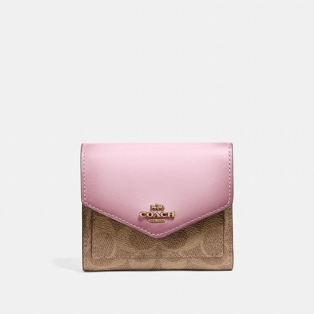 Coach Small Wallet in Colorblock Signature Canvas