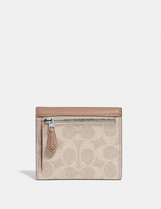 Coach Small Wallet in Colorblock Signature Canvas Lh/Sand Taupe Women Wallets & Wristlets Small Wallets Alternate View 1