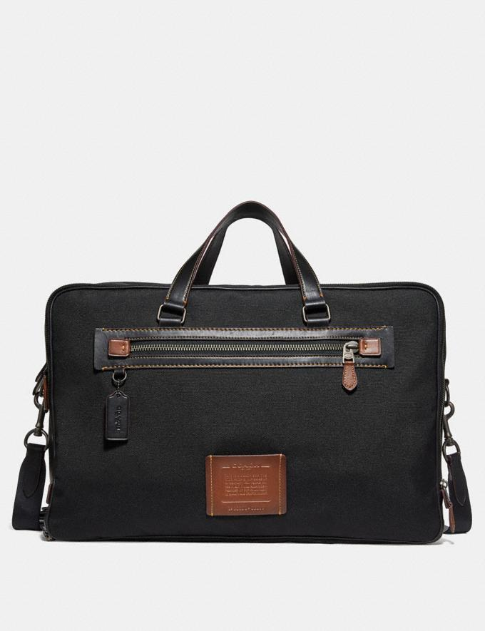 Coach Academy Weekender Black/Black Copper Finish Men Accessories Tech & Travel