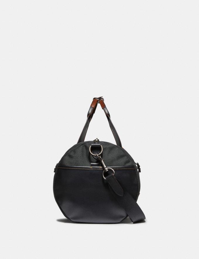 Coach Academy Gym Bag Black/Black Copper Finish Men Bags Totes & Duffles Alternate View 2