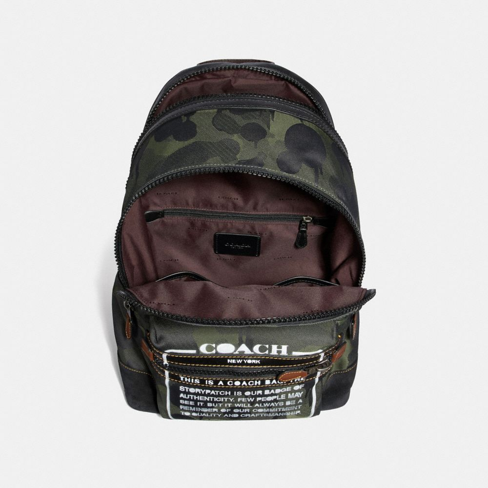 Coach Academy Backpack With Wild Beast Print and Storypatch Alternate View 2