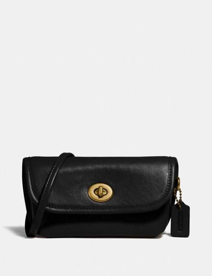 Coach Turnlock Flare Belt Bag B4/Black New Women's New Arrivals Collection