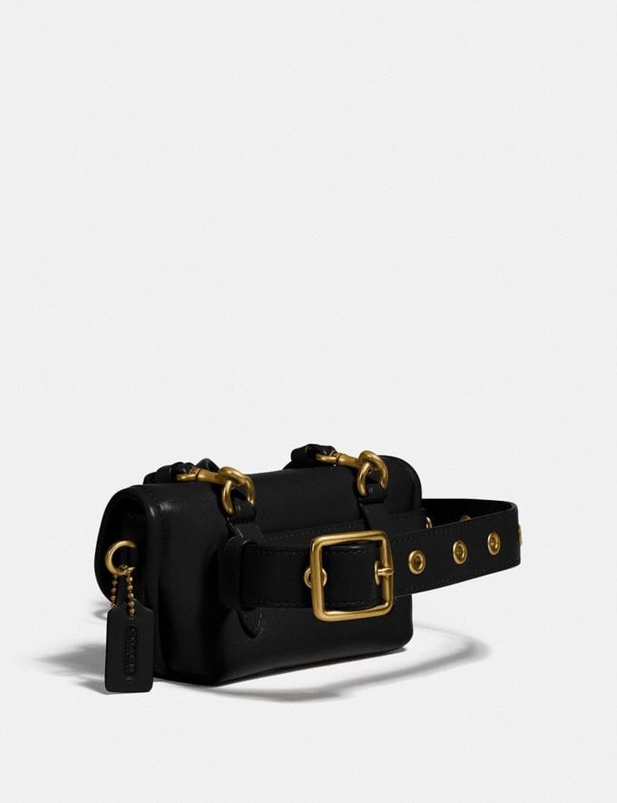 Coach Turnlock Flare Belt Bag B4/Black Women Accessories Tech & Work Alternate View 1