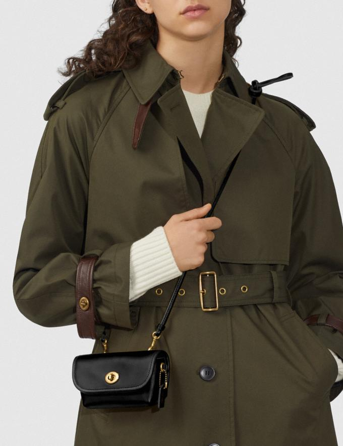 Coach Turnlock Flare Belt Bag B4/Black Women Handbags Clutches Alternate View 4