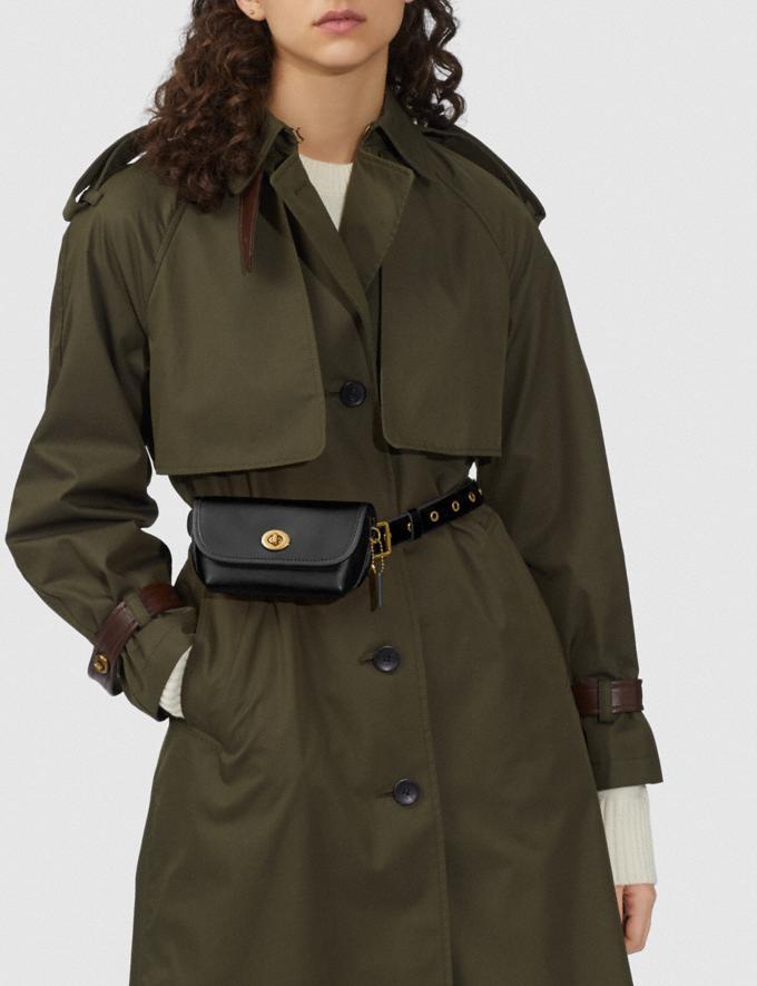 Coach Turnlock Flare Belt Bag B4/Black Women Accessories Tech & Work Alternate View 5