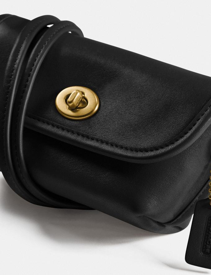 Coach Turnlock Flare Belt Bag B4/Black Women Accessories Tech & Work Alternate View 6