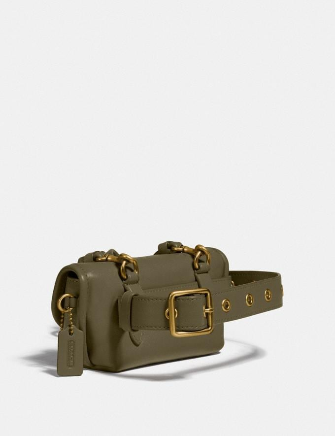 Coach Turnlock Flare Belt Bag Brass/Washed Utility New Women's New Arrivals Collection Alternate View 1