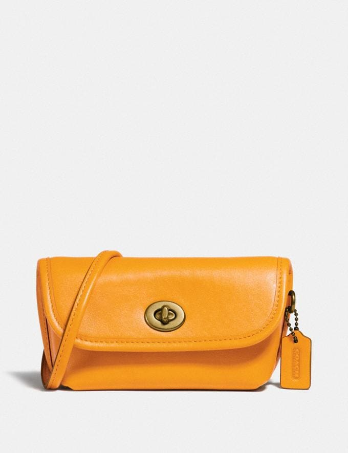 Coach Turnlock Flare Belt Bag B4/Buttercup New Women's New Arrivals Collection