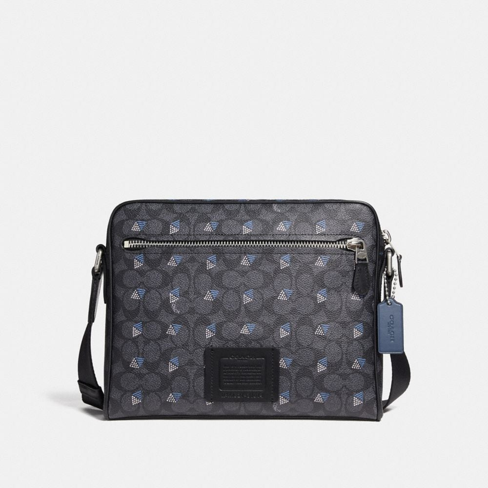 metropolitan camera bag in signature canvas with dot diamond print