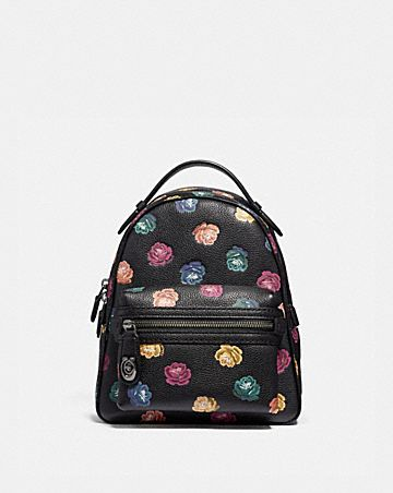 2c933c6aab05 CAMPUS BACKPACK 23 WITH RAINBOW ROSE PRINT ...