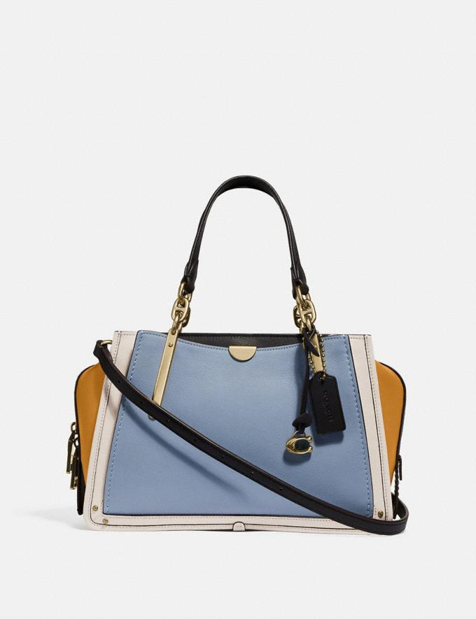 Coach Dreamer in Colorblock Mist Straw Multi/Brass SALE Women's Sale