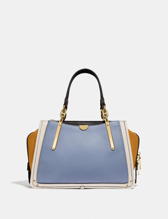 Coach Dreamer in Colorblock Mist Straw Multi/Brass SALE Women's Sale Alternate View 2