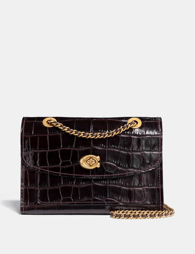 Coach Parker Black/Brass Women Bags Shoulder Bags