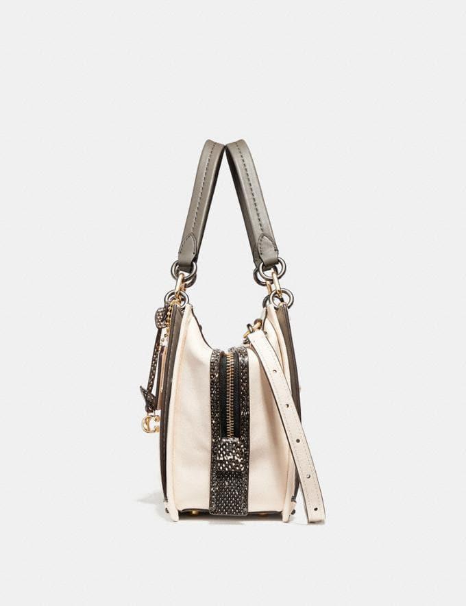 Coach Dreamer With Snakeskin Detail Chalk/Light Gold Women Bags Satchels Alternate View 1