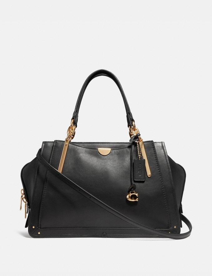 Coach Dreamer 36 Black/Light Gold Personalise Personalise It Monogram For Her