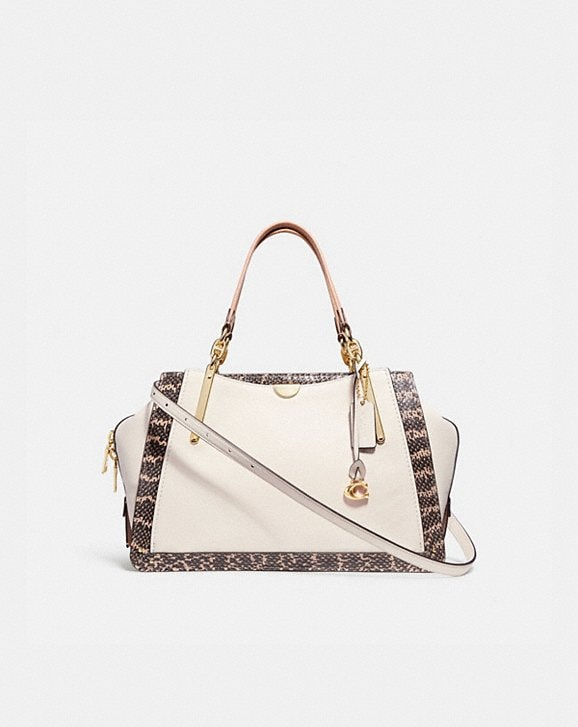 Coach DREAMER 36 IN COLORBLOCK WITH SNAKESKIN DETAIL