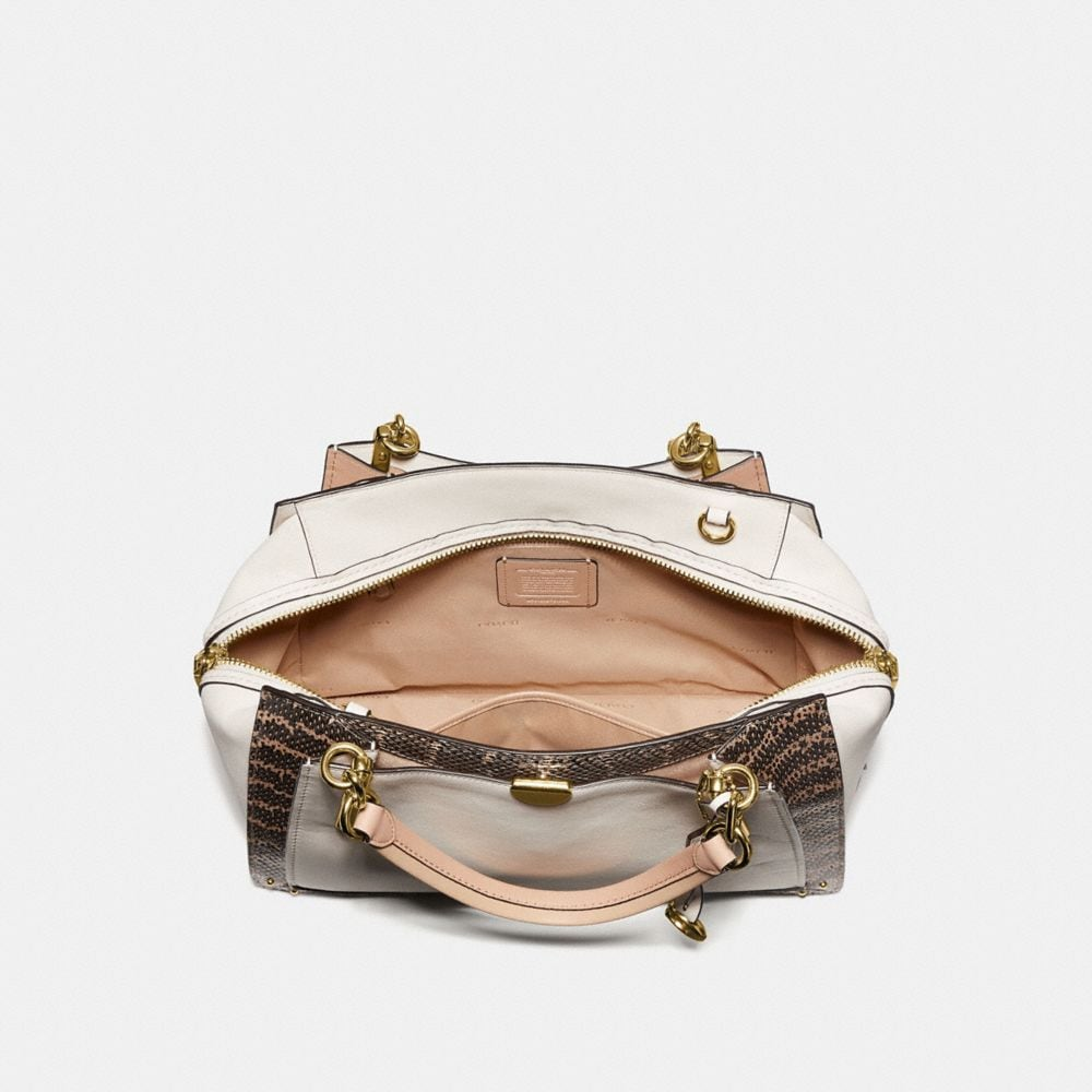 Coach Dreamer 36 in Colorblock With Genuine Snakeskin Detail Alternate View 2