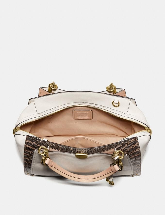 Coach Dreamer 36 in Colorblock With Genuine Snakeskin Detail Chalk Multi/Light Gold Women Bags Satchels & Carryalls Alternate View 2