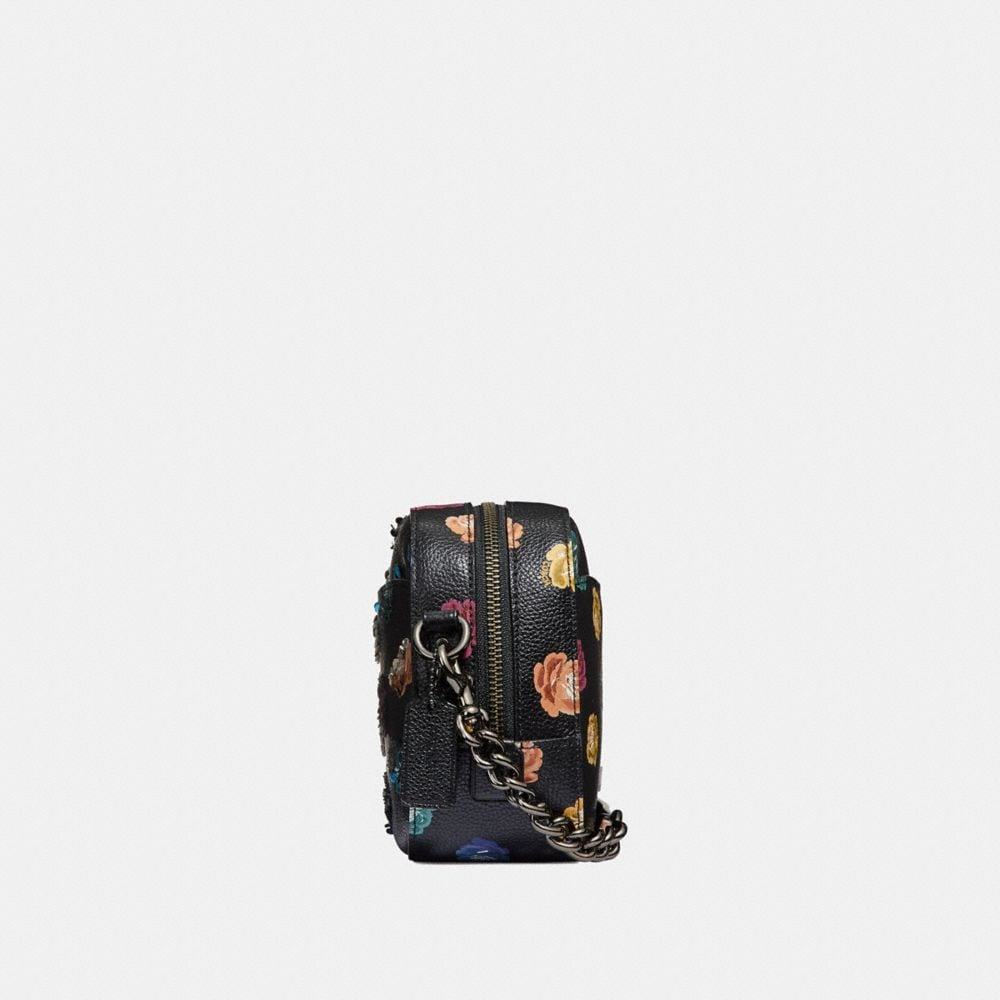 Coach Camera Bag With Embellished Rainbow Rose Print Alternate View 1