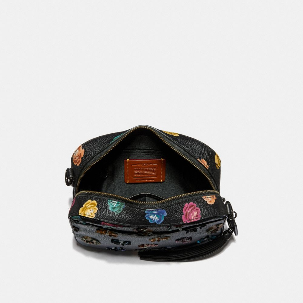 Coach Camera Bag With Embellished Rainbow Rose Print Alternate View 2