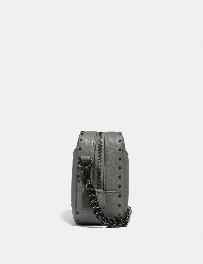 Coach Camera Bag With Rivets Heather Grey/Black Copper New Featured Online-Only Alternate View 1
