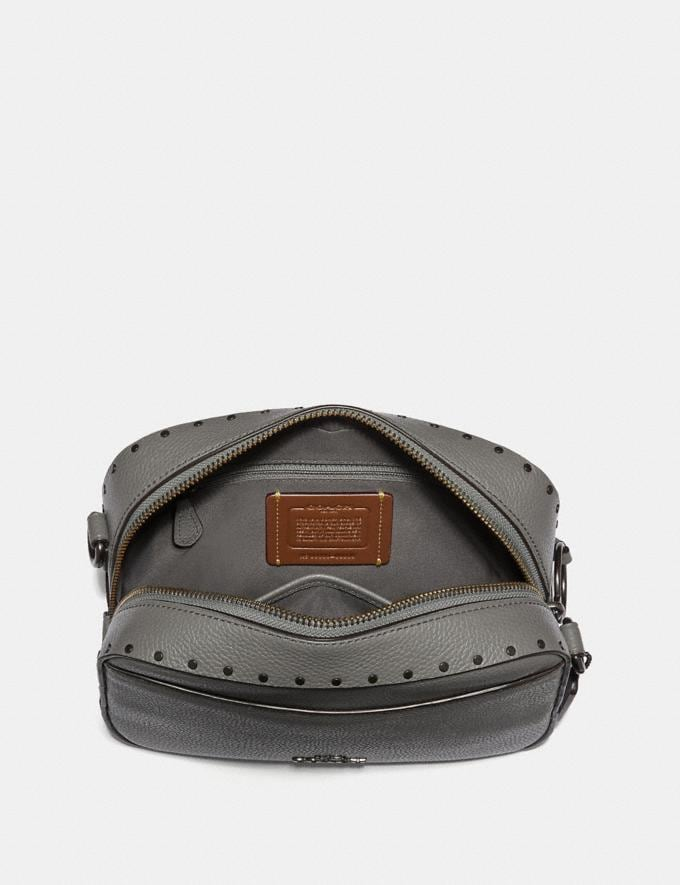Coach Camera Bag With Rivets Heather Grey/Black Copper New Featured Online-Only Alternate View 2
