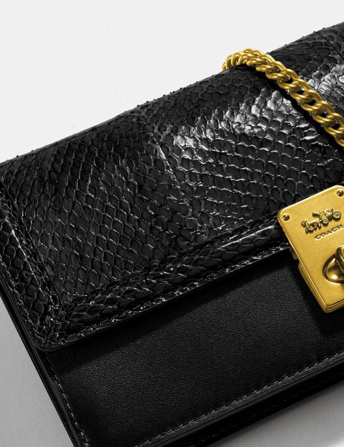 Coach Hutton Clutch in Snakeskin Brass/Black Mujer Bolsos Bolsos de mano Vistas alternativas 3