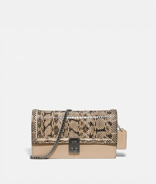 HUTTON CLUTCH IN SNAKESKIN