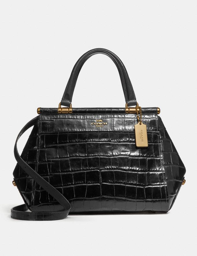 Coach Grace Bag Black/Light Gold New Featured Online-Only