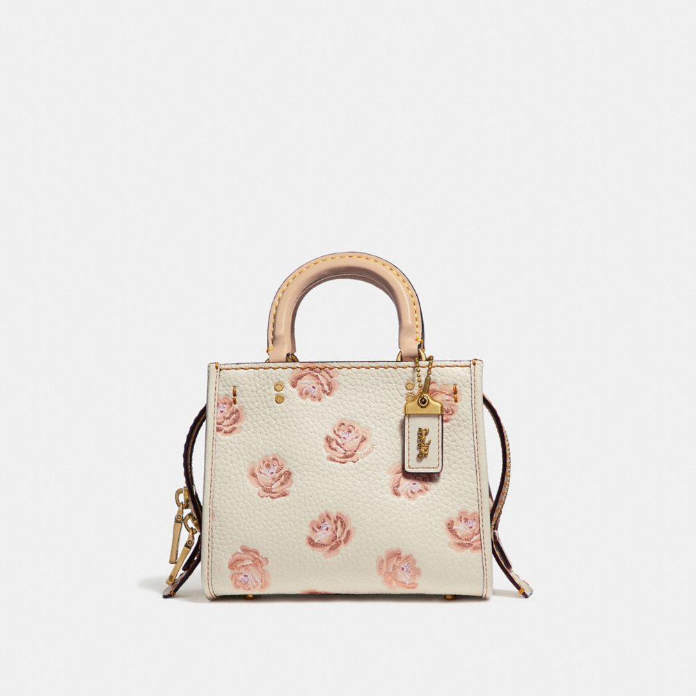 Coach Rogue 17 With Glitter Rose Print
