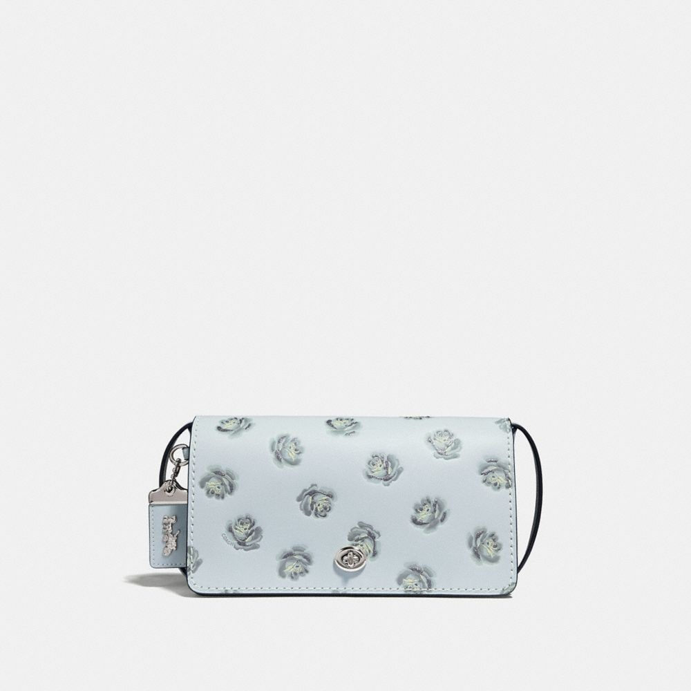 Coach Dinky With Glitter Rose Print