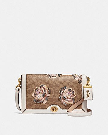 Riley Crossbody In Embellished Signature Rose Print