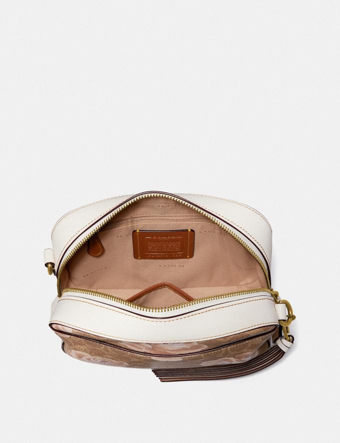 Coach Camera Bag in Signature Rose Print Charcoal/Sky/Dark Gunmetal Women Bags Signature Bags Alternate View 2