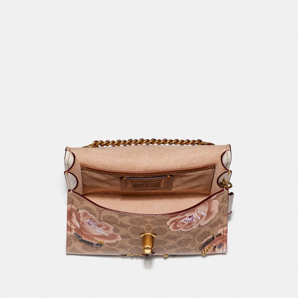 Coach Parker 18 in Embellished Signature Rose Print Alternate View 2