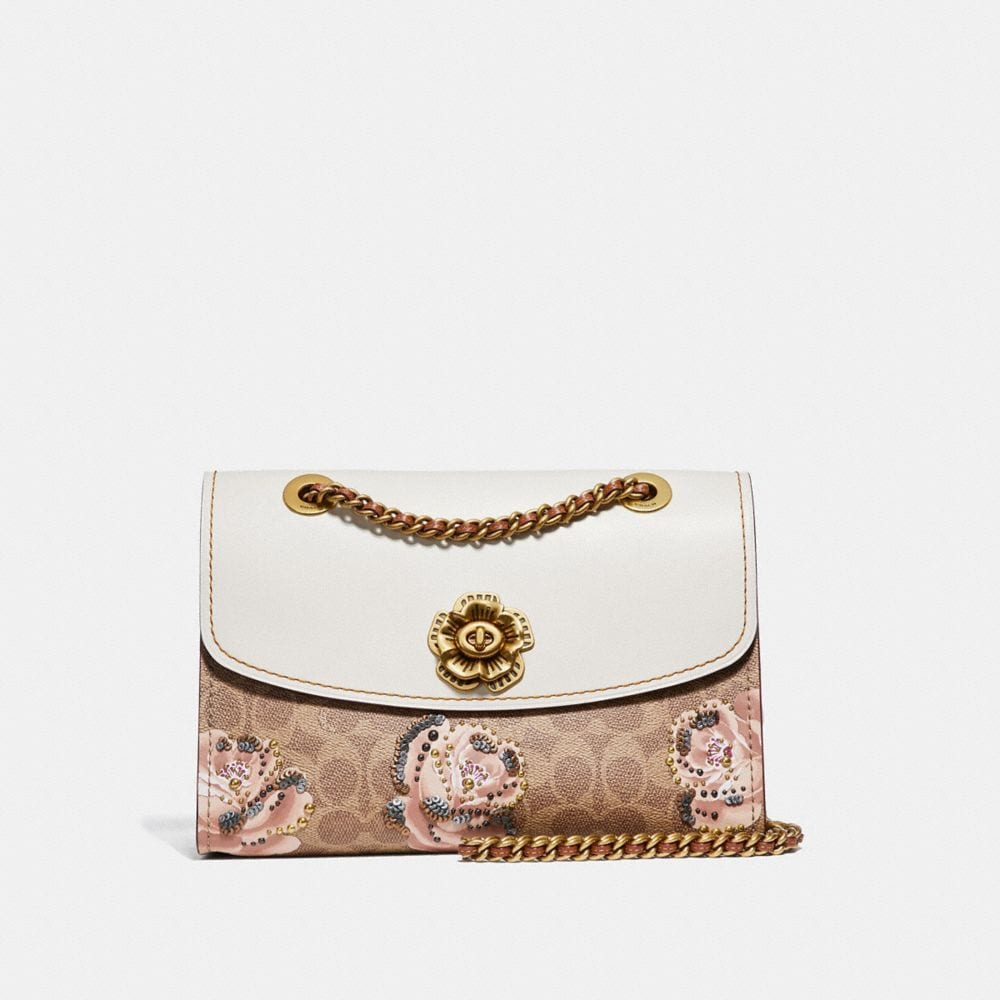 Coach Parker in Embellished Signature Rose Print