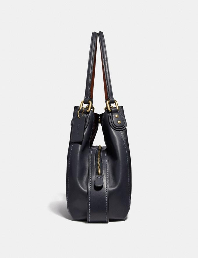 Coach Edie Shoulder Bag 31 in Signature Canvas Charcoal/Midnight Navy/Light Gold Women Bags Shoulder Bags Alternate View 1