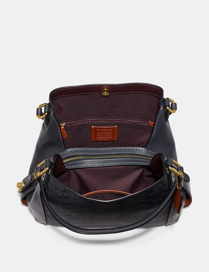 Coach Edie Shoulder Bag 31 in Signature Canvas Charcoal/Midnight Navy/Light Gold Women Bags Shoulder Bags Alternate View 2