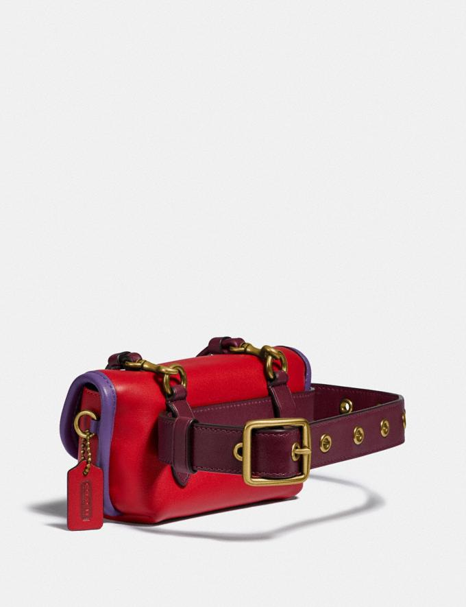 Coach Turnlock Flare Belt Bag in Colorblock B4/Jasper Multi Women Bags Belt Bags Alternate View 1