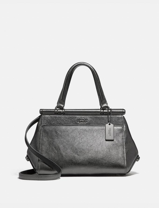 d35cf992f3a8d Coach Grace Bag 20 Metallic Graphite Dark Gunmetal Women Bags Crossbody Bags