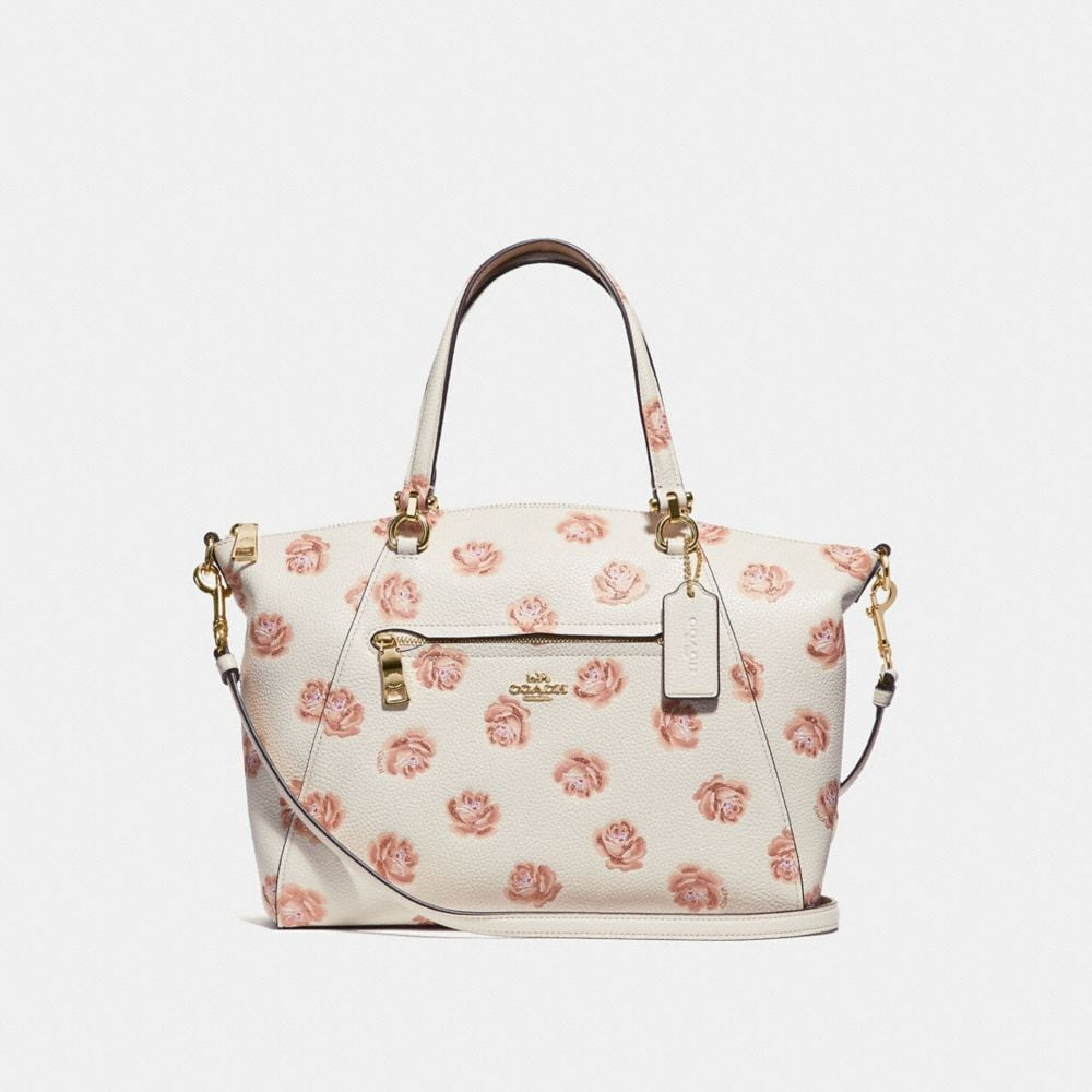 prairie satchel with rose print